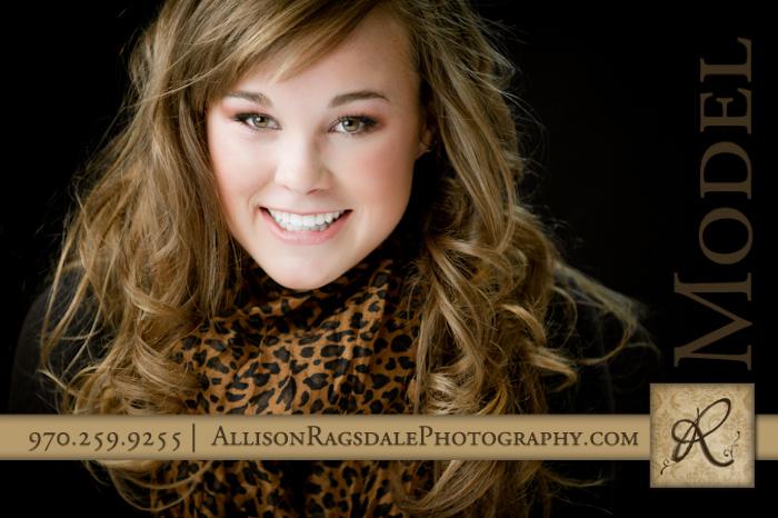 senior girl studio headshot portrait