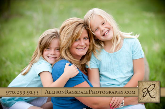 Mother with two kids Portrait