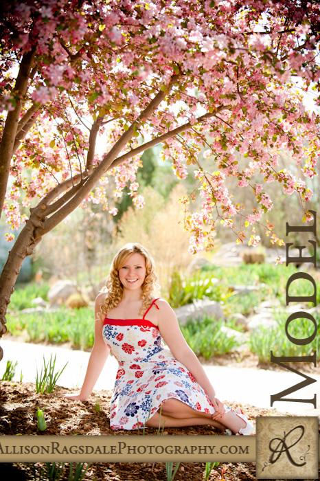 Senior Portrait in Zen Garden