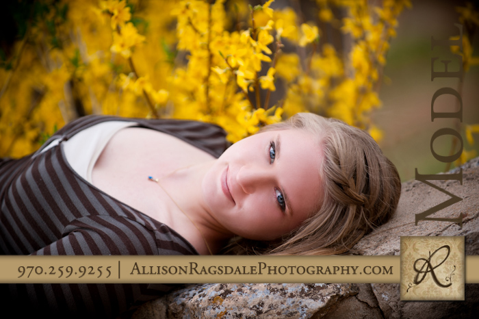 Durango Senior Girl Picture with Blue Eyes