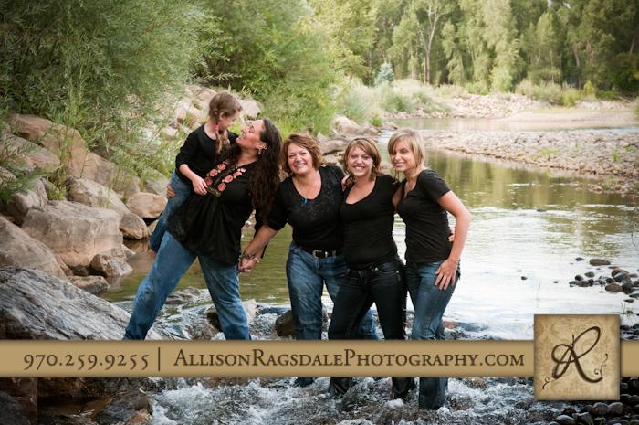 Family Photo in River