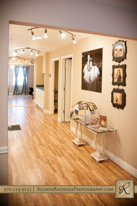 hallway durango portrait studio allison ragsdale photography remodel
