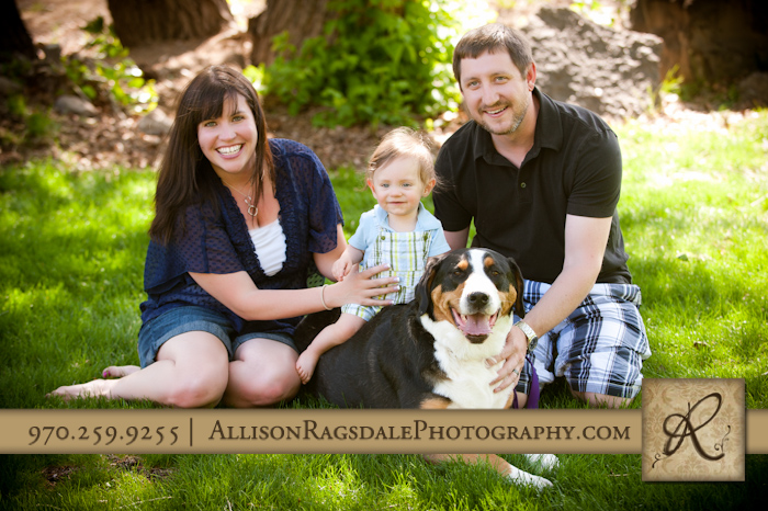 family photography with baby boy and dog