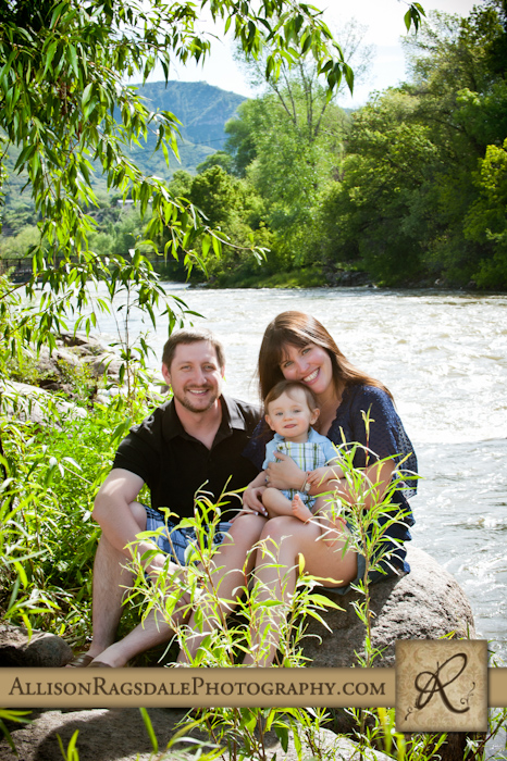 family portrait on the animas river
