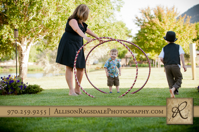 considering going through hula hoops at wedding picture