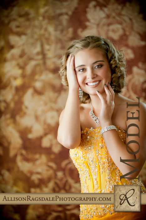 miss colorado teen gown portrait