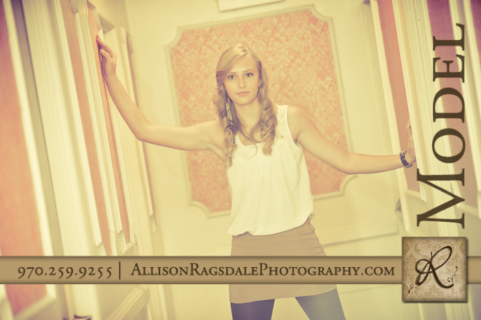 hallway at the strater hotel in durango senior pic