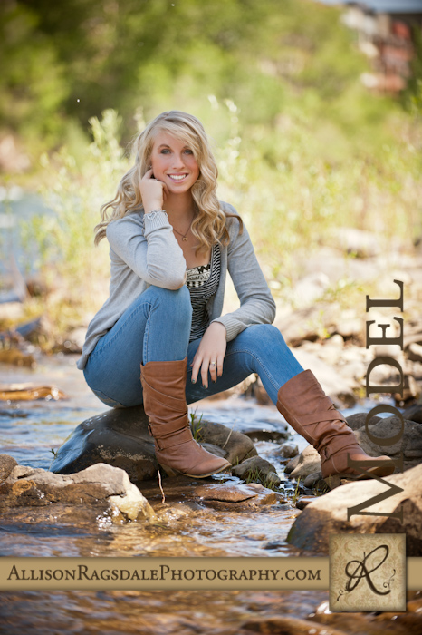 Senior girl pic by the river