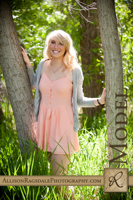 hs senior in long green grass picture