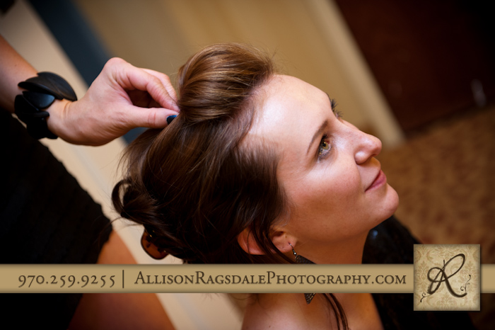 bride to be getting ready pic