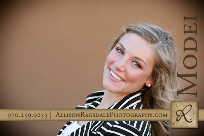 senior portrait head shot