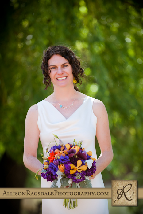 beautiful bride at sleeping beauty ranch durango pic
