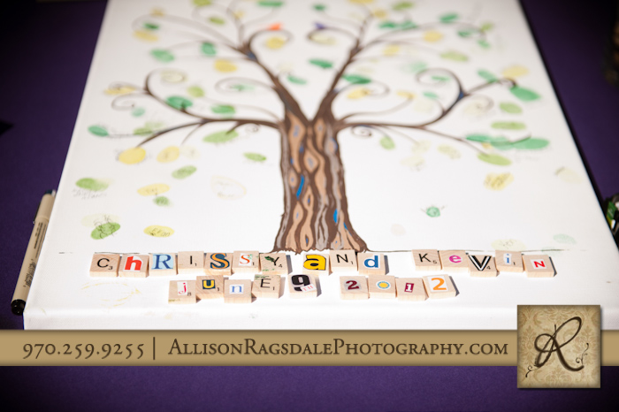 bride and groom's names in scrabble letters picture