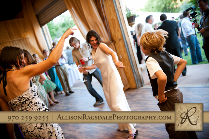 bride dancing at wedding reception pic