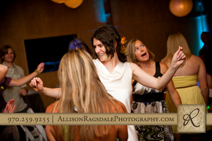 bride dancing to jane fonda at wedding reception pic
