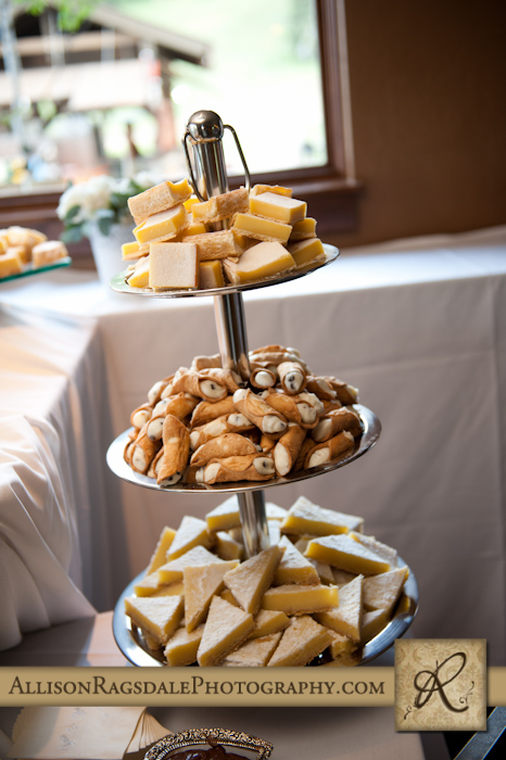 wedding dessert table at purgy's