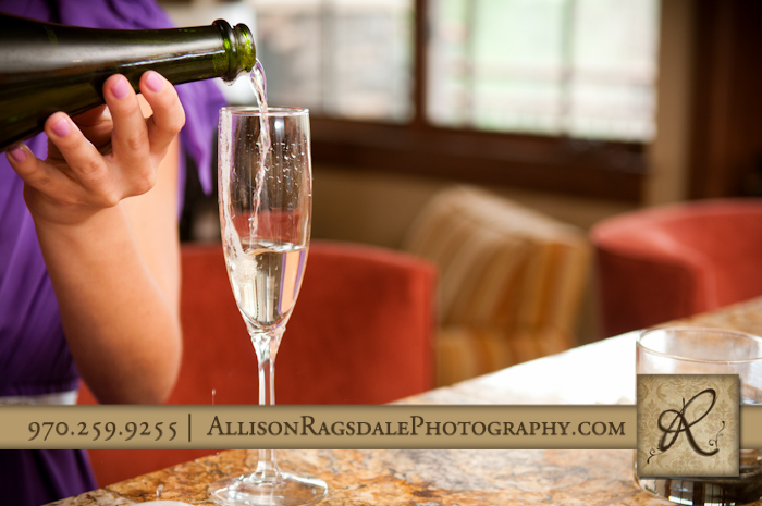 champagne toast pre ceremony