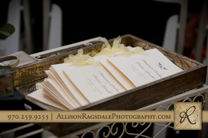 programs for wedding ceremony at engineer site at DMR