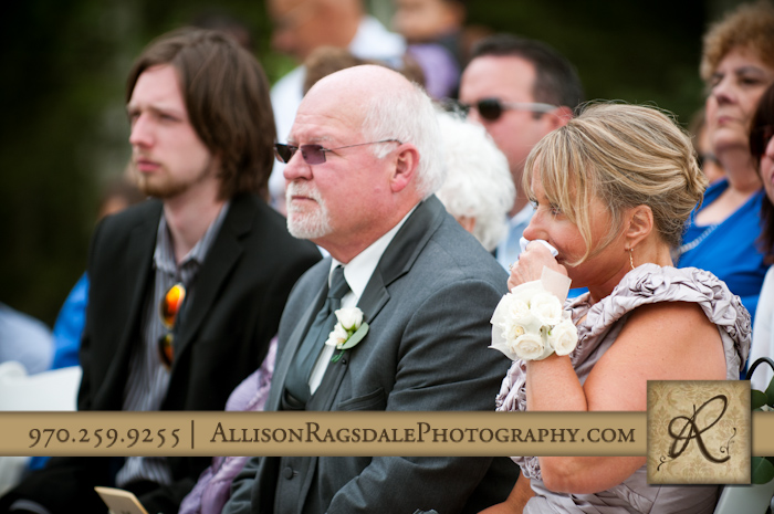 mother and father of groom at wedding ceremony