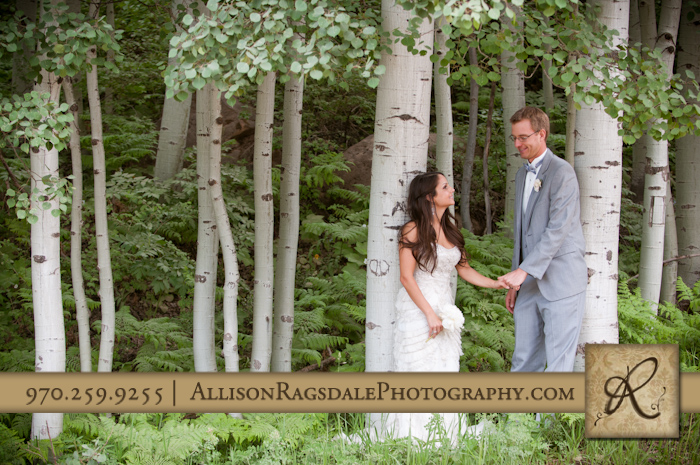 aspen grove groom and his bride
