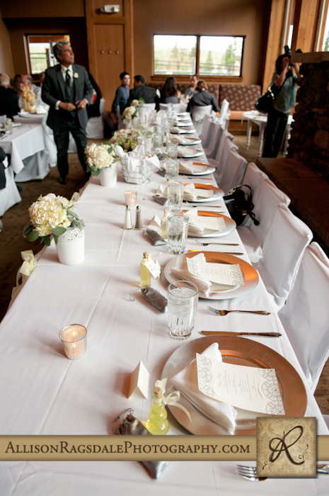 wedding party head table at purgy's at DMR