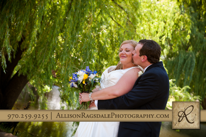 bride and groom picture in willows