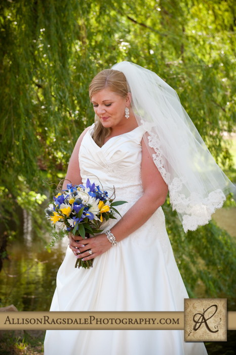 bride with bouquet photo