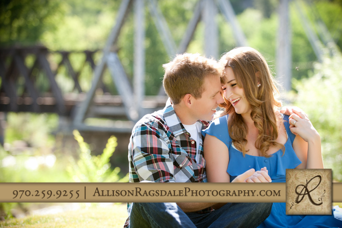durango silverton train tressel bridge engagement portrait