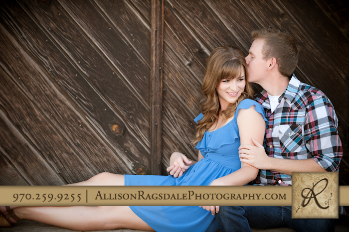 sweet and rustic engagement picture