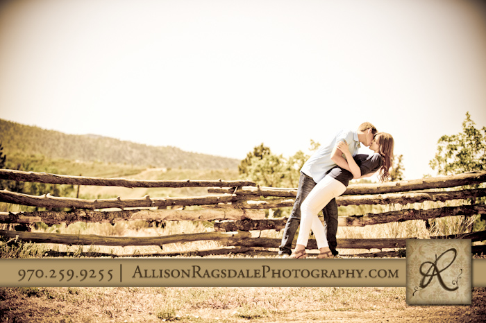 dramatic rustic engagement photo