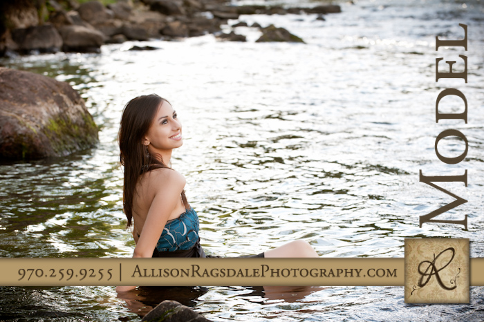 trash the formal in the animas river senior model picture