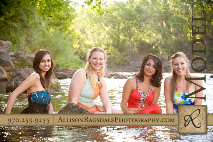 four senior models trash the formal fun session in river