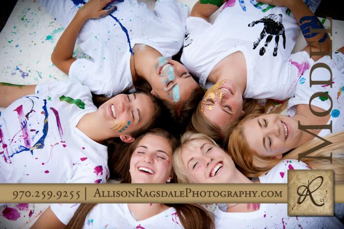 paint splatter group headshot picture