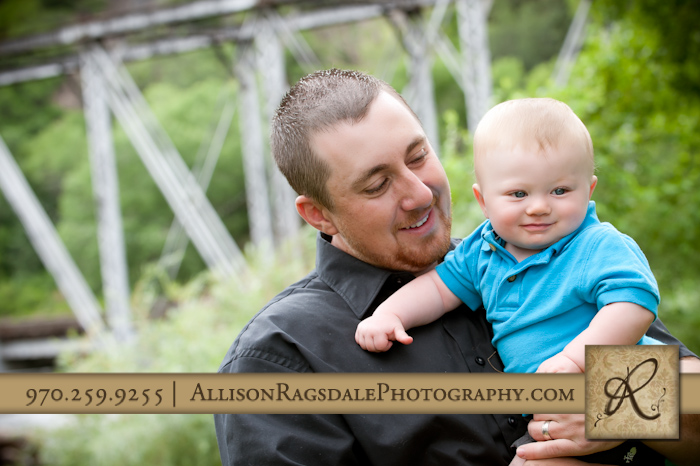 dad and son portrait in durango rotary park