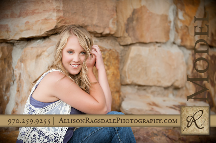 bayfield senior portrait in durango at lion's den