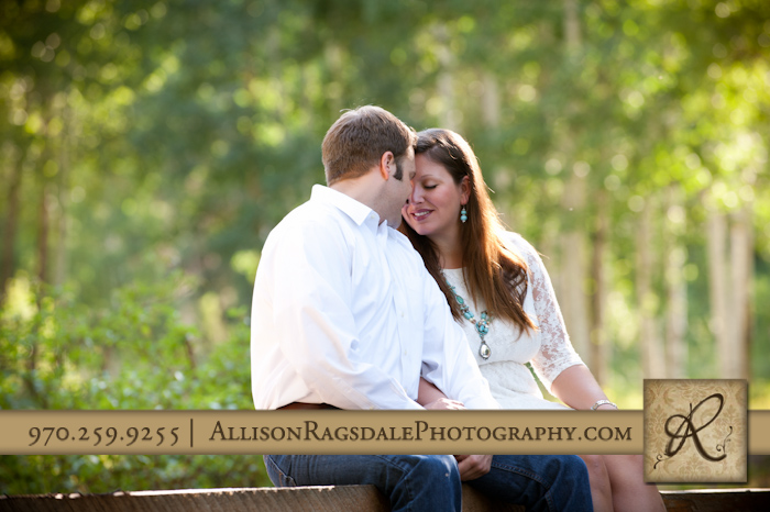 sweet engaged couple photographed in durango colorado