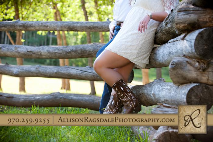 cowboy boots picture on durango engagement photo session