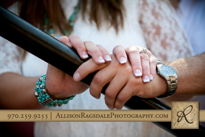 engagement ring pic at durango silver ton train station