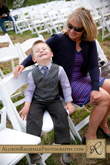 ringbearer and grandmother