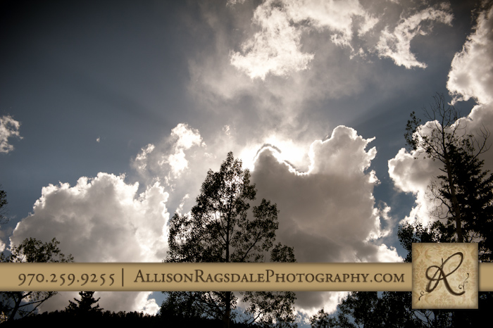 clouds over engineer at wedding rehearsal