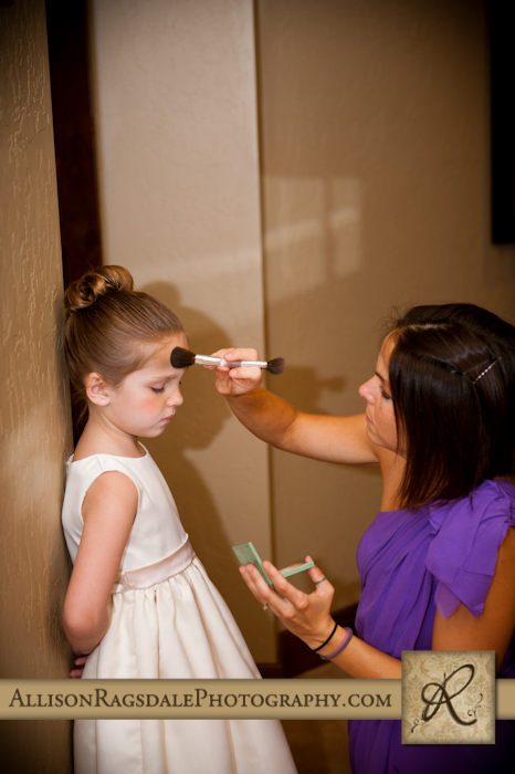 makeup for flower girl before wedding ceremony
