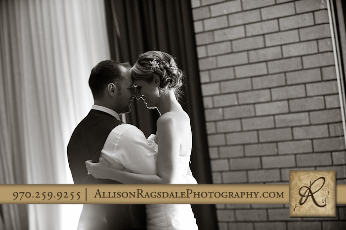 first dance of newlyweds at double tree hotel durango