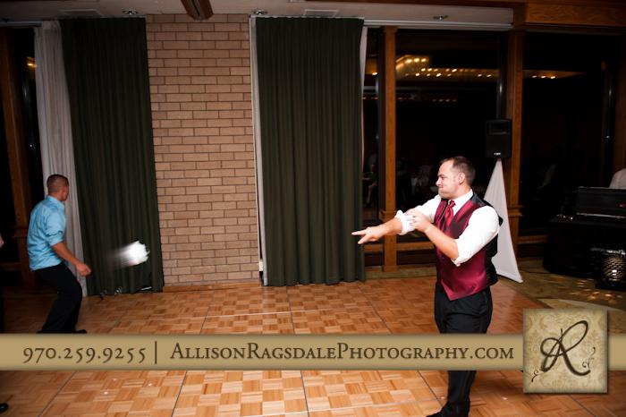 garter toss wedding reception double tree durango