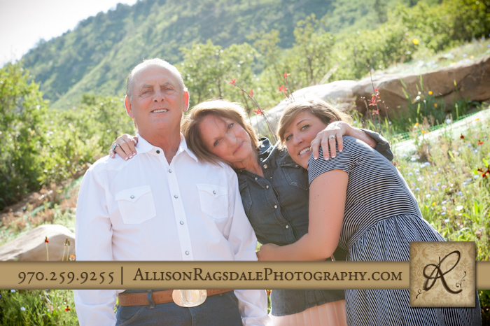 mom dad and daughter picture at durango home
