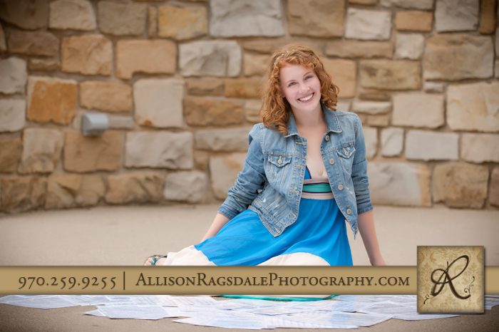 picture of dhs senior girl with her sheet music at fort lewis amphitheater