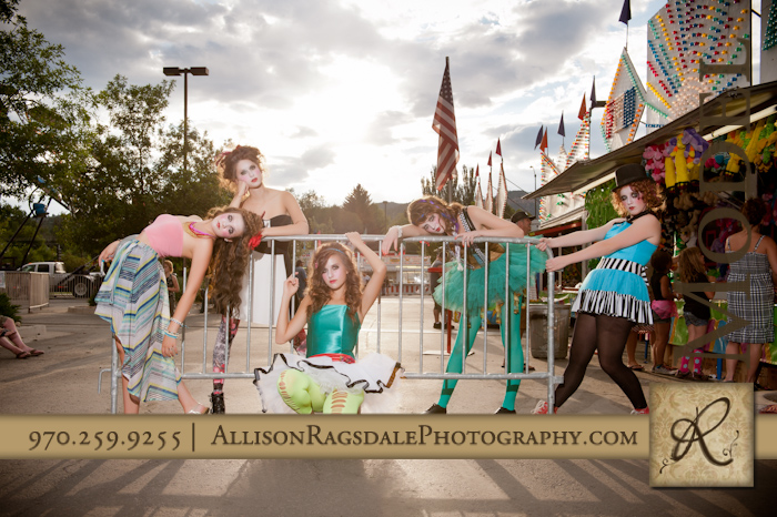 cirque du soleil themed photoshoot durango colorado