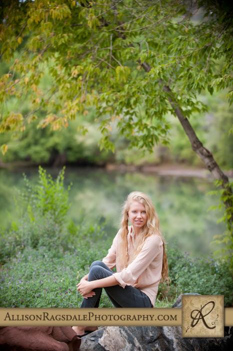 animas river background senior girl portrait durango