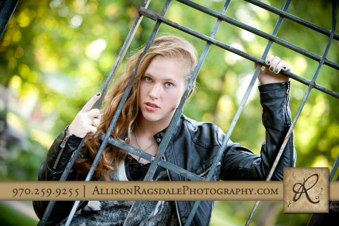 senior girl pic leather jacket wrought iron durango co