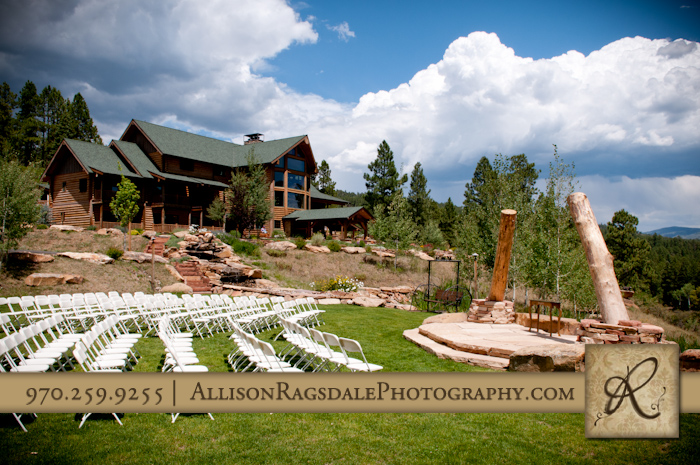chairs for wedding ceremony with thunder ridge durango co