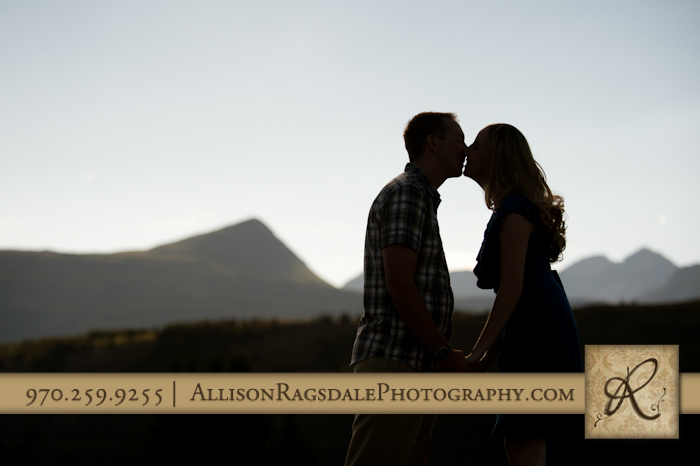 silhouette durango mountains esession picture